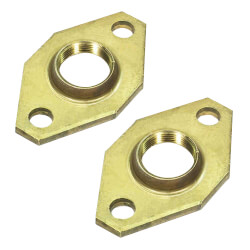 "1"" Bell & Gossett Bronze Body Pump Flange<br>Lead Free (pair) Product Image"
