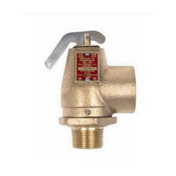 "3/4"" FNPT x 1"" FNPT RVW10 710,000 BTU Hot Water Relief Valve, 30 PSIG (Brass Finish) Product Image"