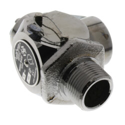 "3/4"" MNPT x 3/4"" FNPT RVS32 425 LBS/HR Safety Relief Valve, Polished Chrome (25 psi) Product Image"