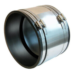 """4"""" x 3"""" Strong Back PVC Shielded Coupling (Asbestos or Ductile Iron to Cast Iron or PVC) Product Image"""