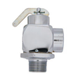 "1/2"" MNPT x 1/2"" FNPT RVS52 339 LBS/HR Steam Safety Relief Valve, Polished Chrome (50 psi) Product Image"