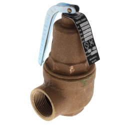 "3/4"" FNPT x 1"" FNPT RVW61 1,641,000 BTU Bronze Hot Water Relief Valve (60 psi) Product Image"