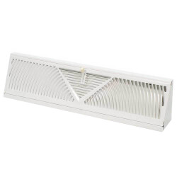 "18"" White Baseboard Diffuser (406 Series) Product Image"