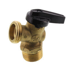 "R-670 3/4"" MNPT x MGHT Forged Brass Boiler Drain Ball Valve Product Image"