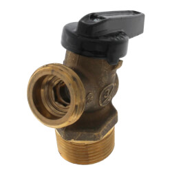 "R-670 3/4"" MNPT x MGHT Forged Brass Boiler Drain Ball Valve (Lead Free) Product Image"