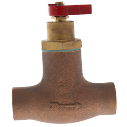 "3/4"" Sweat Bronze Straight Flow Control Product Image"