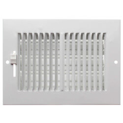 """6"""" x 4"""" (Wall Opening Size) White Sidewall/Ceiling Register (661 Series) Product Image"""