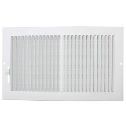 "10"" x 6"" (Wall Opening Size) White Sidewall/Ceiling Register (661 Series) Product Image"