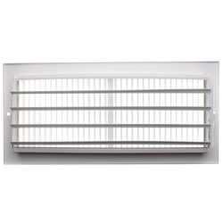 "12"" x 5"" (Wall Opening Size) White Sidewall/Ceiling Register (661 Series) Product Image"