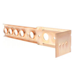 "1/2"" Copper Bracket for Toilet (9-1/2"" Height) Product Image"