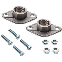 """1"""" Taco Stainless Steel Freedom Flange (Pair) Product Image"""