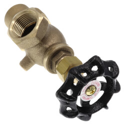 "T-441NL, 3/4"" Flare x 1/2"" FNPT Bronze Meter Valve (Lead Free) Product Image"