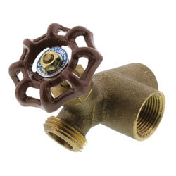 "3/4"" FIP x Hose Brass<br>Water Heater Drain Vlv w/<br>Recirculating Elbow (LF) Product Image"