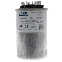 5+45 MFD Round Run Capacitor (370V) Product Image