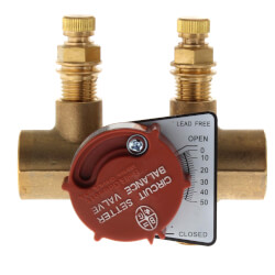 "3/4"" Sweat 3/4S Circuit Setter Balance Valve, Lead Free Product Image"