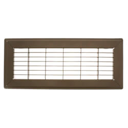 "4"" x 12"" (Wall Opening Size) Golden Sand Floor Return Air Grille (265 Series) Product Image"
