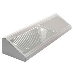 "18"" White Baseboard Return Air Grille <br>(407 Series) Product Image"