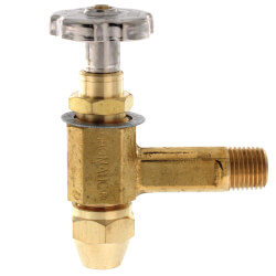 "3/8"" ODF Inlet x 1/4"" MPT Outlet Fusible Burner Angle Valve (1-1/4"" Long) Product Image"