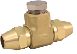 "1/2"" ODF Inline Check Valve w/ Flare Nuts Product Image"