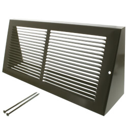 "14"" x 6"" Golden Sand Baseboard Return Air Grille (658 Series) Product Image"