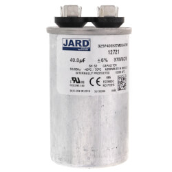 40 MFD Round Run Capacitor (370V) Product Image