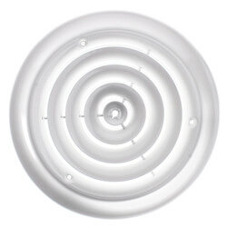 "8"" (Wall Opening Size) Round White Ceiling Diffuser (16 Series) Product Image"