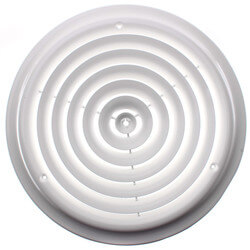 """12"""" (Wall Opening Size) Round White Ceiling Diffuser (16 Series) Product Image"""