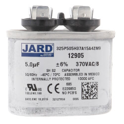 5 MFD Oval Run Capacitor (370V) Product Image