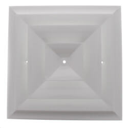 """Series 24 8"""" (Wall Opening Size) Step Down Square Ceiling Diffuser (Steel) Product Image"""