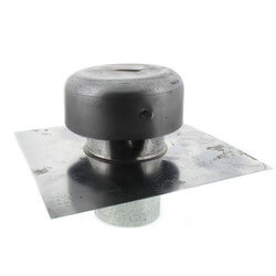 "3"" Galvanized Roof Cap w/ Screen & Flange (No Damper) Product Image"