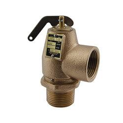 "1"" MNPT x 1"" FNPT RVS13 643 LBS/HR Low Pressure Steam Safety Valve (8 psi) Product Image"