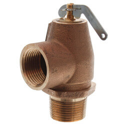 "1"" MNPT x 1"" FNPT RVS13 643 LBS/HR Low Pressure Steam Safety Valve (15 psi) Product Image"