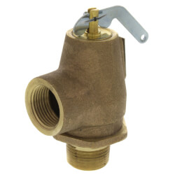 "3/4"" MNPT x 3/4"" FNPT RSV13 290 LBS/HR Low Pressure Steam Safety Relief Valve (5 psi) Product Image"
