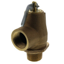 "3/4"" MNPT x 3/4"" FNPT RVS13 475 LBS/HR Low Pressure Steam Safety Valve (15 psi) Product Image"