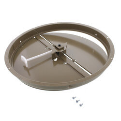 "12"" Steel Butterfly Damper with Ring Product Image"