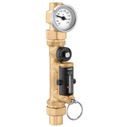 "1/2"" PEX Crimp QuickSetter Balancing Valve w/ Flow Meter & Gauge, 0.5-1.75 GPM (Lead Free) Product Image"