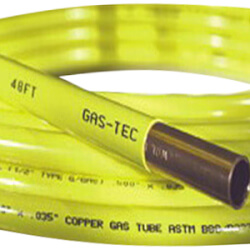 """Gas-Tec 3/8"""" OD x 50' Coated Copper Refrigeration Tubing Coil (Yellow) Product Image"""