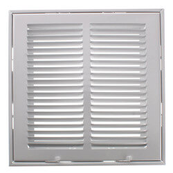 """10"""" x 10"""" (Wall Opening Size) White Sidewall/Ceiling Return Air Filter Grille (673 Series) Product Image"""