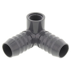 """1"""" x 1"""" x 1/2"""" 90° PVC Insert Side Outlet Elbow (Insert x Insert x FIPT) Product Image"""