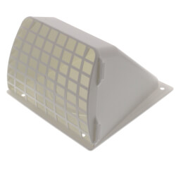 "4"" White Plastic Preferred Replacement Hood Vent Product Image"