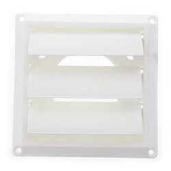 """3"""" White Plastic Louvered Vent Product Image"""