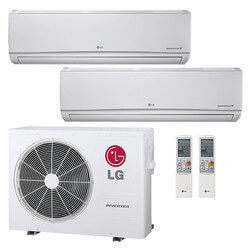 14,000 BTU 22 SEER Ductless Dual Zone Heat Pump Package (7+7) Product Image