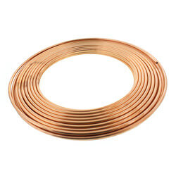 "1/4"" OD x 100' Copper Refrigeration Tubing Coil Product Image"