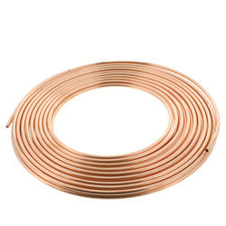 "1/4"" OD x 50' Copper Refrigeration Tubing Coil Product Image"