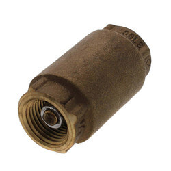 "1/2"" Threaded Spring Loaded Check Valve,<br>Lead Free Product Image"