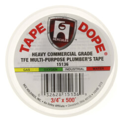 "Multipurpose Heavy Industrial Tape Dope<br>3/4"" x 500"" Product Image"
