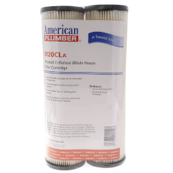 W20CLa, Pleated Resin Impregnated Cellulose Sediment Filter Cartridge (Pack of 2) Product Image