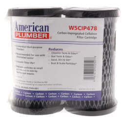 W5CIP478, Compact Activated Carbon Impreg. Cellulose Filter Cartridge Product Image