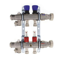 2-Loop ProRadiant Manifold w/ Balancing Valves & Flow Meters Product Image
