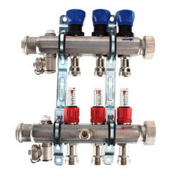 3-Loop ProRadiant Manifold w/ Balancing Valves & Flow Meters Product Image
